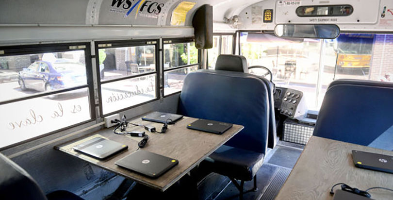 Modular Classroom Nc ~ Creative this nc school retrofitted a used bus as