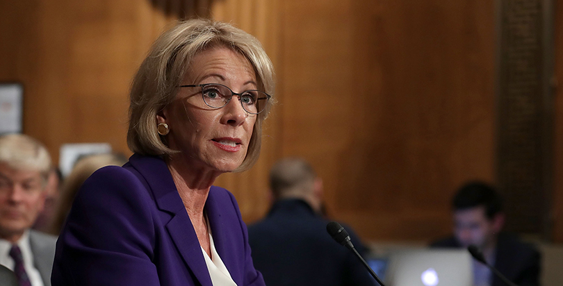 Special Education Chiefs To Devos Dont >> Devos Pledges Not To Gut Public Schools Or Force School Choice