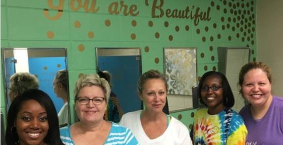 U0027Dream It, Believe It, Achieve Itu0027: Teachersu0027 Bathroom Makeover Offers  Messages Of Inspiration For Girls In Alabama MS