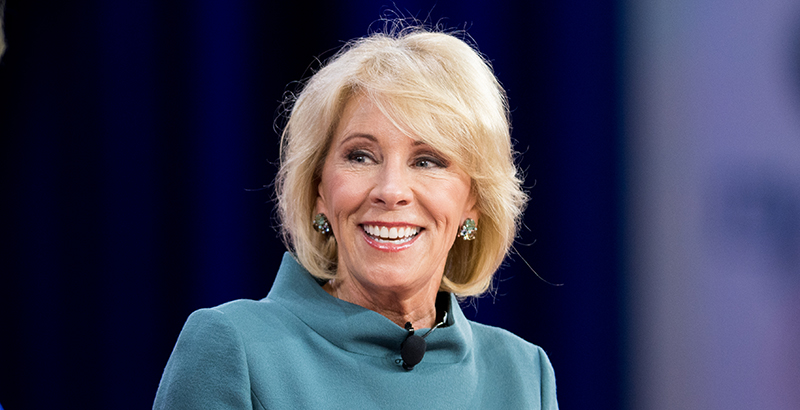 DeVos calls on Trump to not use foul language