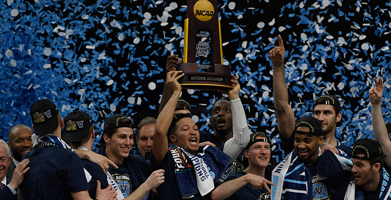 83be0777a60 The Villanova Wildcats celebrate their victory in the 2018 NCAA basketball  championship. (Chris Steppig NCAA Photos via Getty Images)
