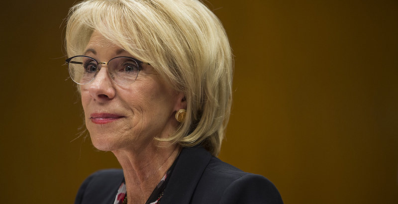 Special Education Chiefs To Devos Dont >> Devos Pushes State Chiefs To Consider Essa Waivers Particularly In