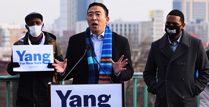 www.the74million.org: Unexpected Front-Runner Andrew Yang Courts Parents Intent on Reopening Schools in Crowded NYC Mayor's Race